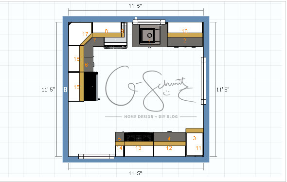 Potential kitchen floor plan options madness method when renovating a kitchen yourself its always best to plan out a few floor plans solutioingenieria Gallery