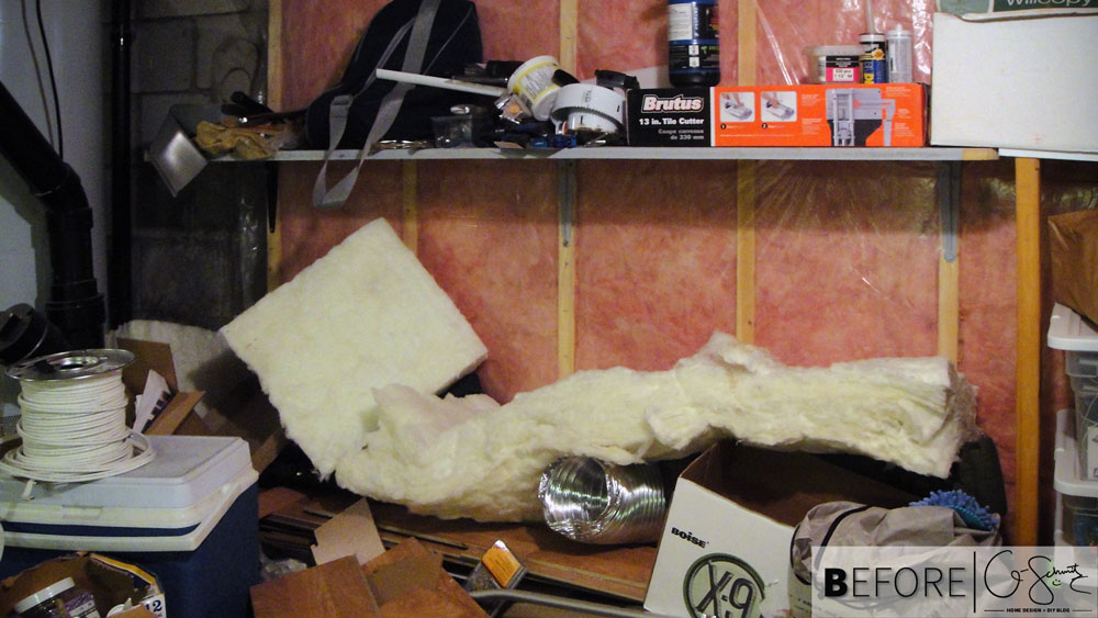 Clearing up and cleaning out the basement crawlspace. This post has before and after images showing how we organized and tidied up our basement crawlspace.