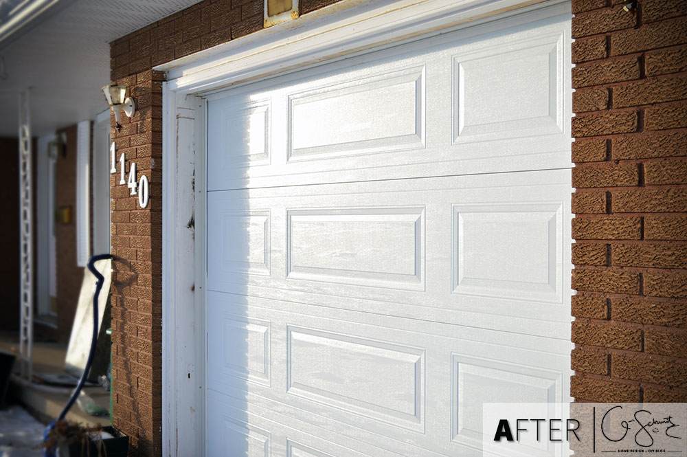 We had to call in a professional to remove and replace our garage door... this was not a DIY project for the middle of winter!