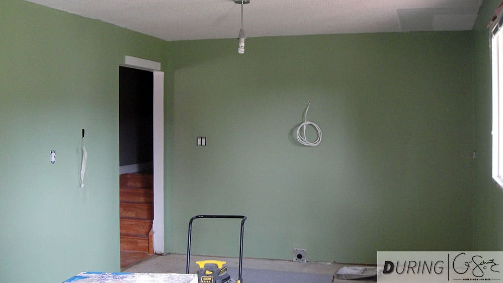Painting the Kitchen Walls Green