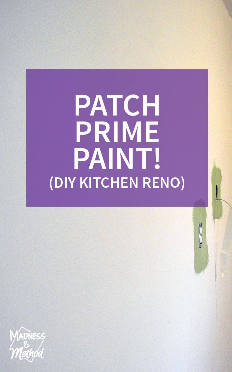 patch prime and paint (our kitchen renovation)