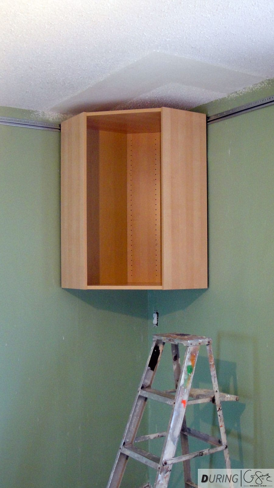 Installing ikea wall cabinets madness method - Ikea corner cabinet door installation ...