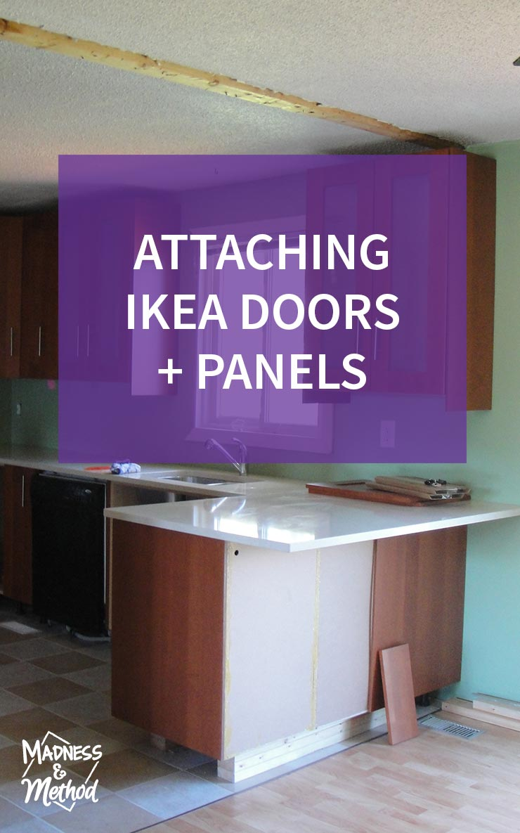 attaching ikea doors and panels graphic