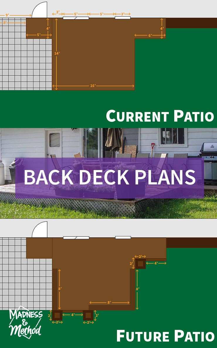back deck plans graphic