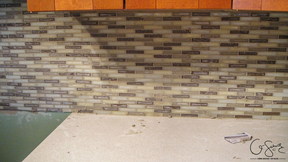Grouting A Glass Tile Backsplash Madness Method