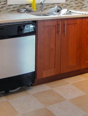 "How to ""fake"" the look of a fancy stainless steel dishwasher - for less than 10$"