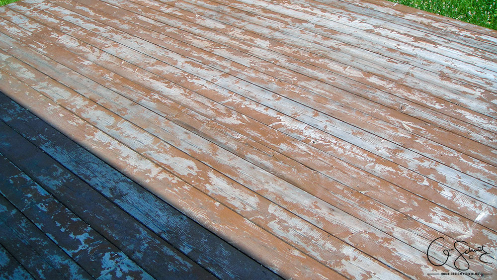 We're not just cleaning, re-organizing the layout and staining our deck... we plan on doing a lot more for this DIY outdoor project (check the blog for details on our plans!)