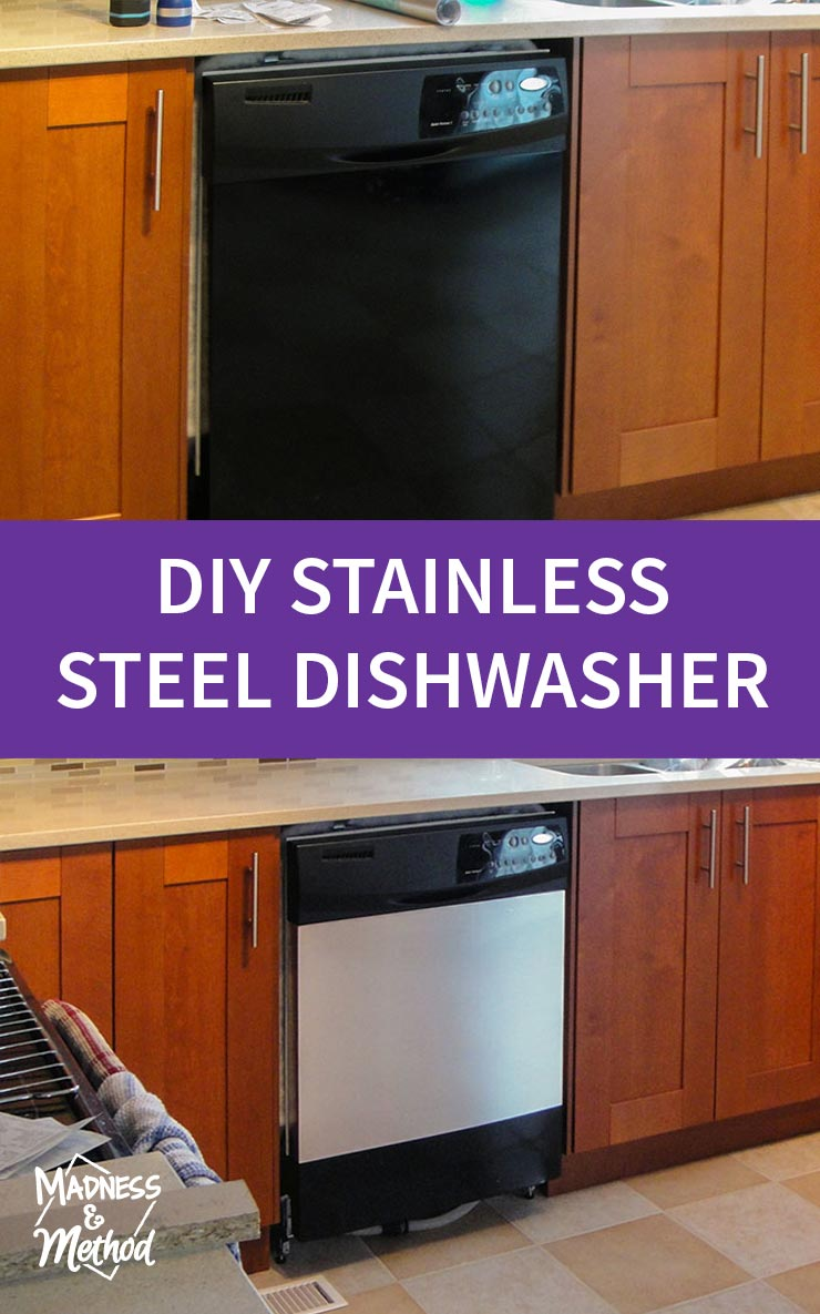 sneaky diy stainless steel dishwasher