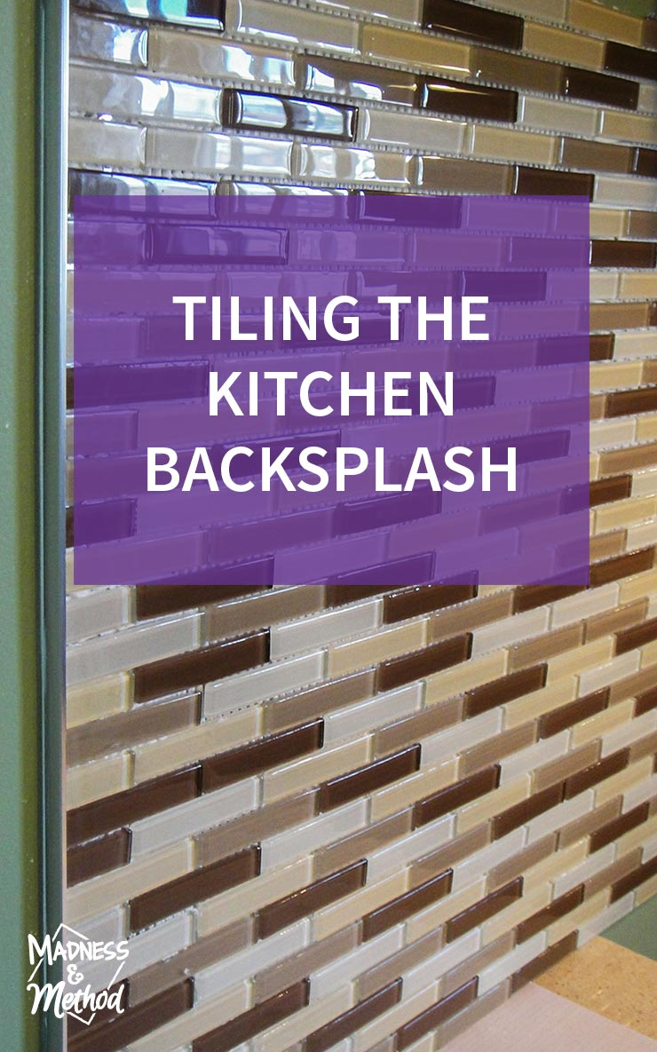 tiling the kitchen backsplash graphic