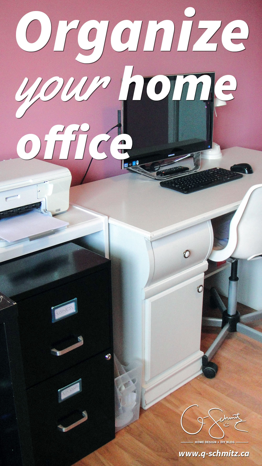 Do you struggle with filing your paperwork? Properly cleaning and organizing the home office right now is the best way to keep up with your paperwork in the future! Whether your home office is in a bedroom, a designated space in your kitchen, or even a closet, read this post to see how your organization could get bottlenecked; (and learn how to prevent it!).