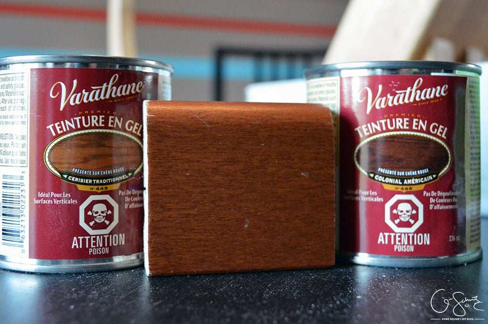How to easily stain your wooden kitchen accessories and kitchenware to match your cabinets (helps to create a nice cohesive design). Great tips for other staining projects as well!