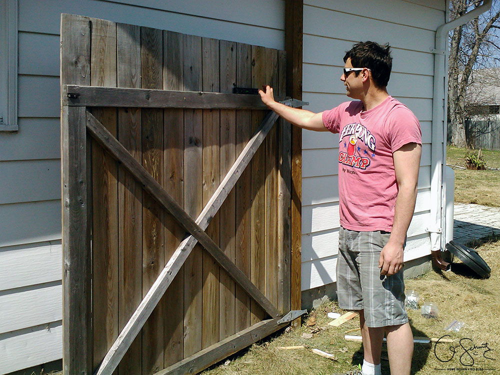 """Have you ever attempted a """"simple"""" DIY project that didn't go as planned? If you're looking to install a gate or double wooden door on your fence, read on for good tips and also some advice on things you should avoid!"""