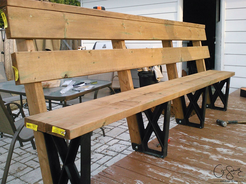 Were You Interested In Building Some Diy Benches A Bench With Brackets Is An