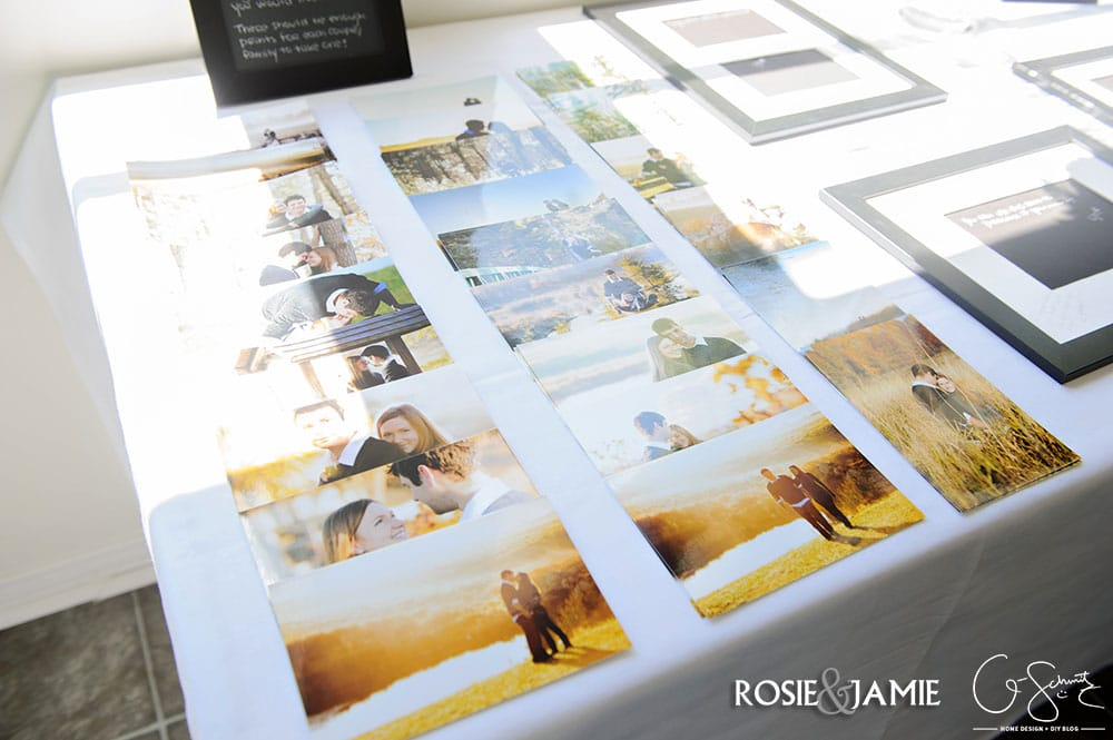 Are you planning a wedding and thinking of having a wedding guest book alternative? This easy DIY is a great way to display your wedding or engagement photos as part of your home decor.