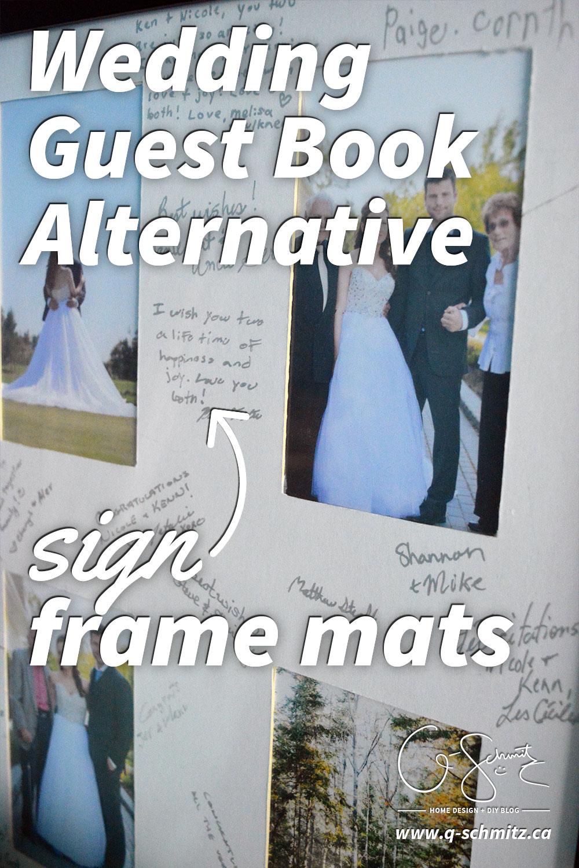 Wedding Guest Book Alternative: Frame Mats | Madness & Method