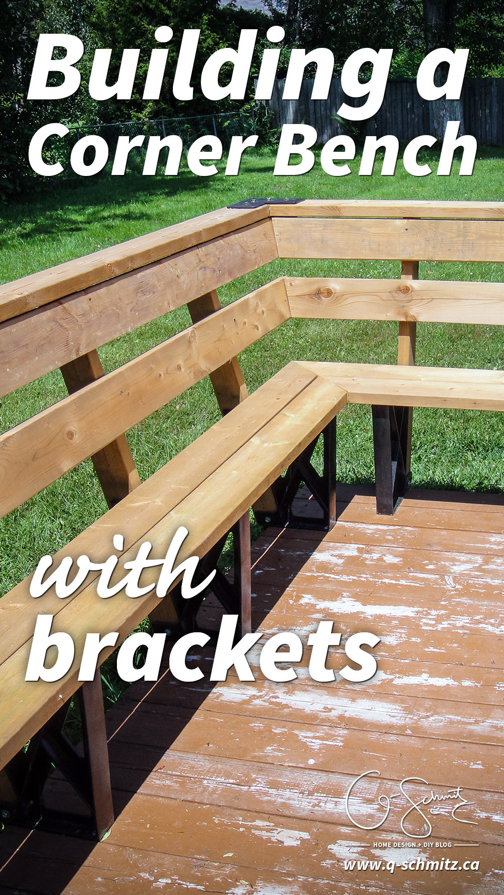 Are you ready to tackle an easy DIY project this summer? Building a corner bench with brackets is a great way to add more seating space to your deck, and these tips will help you avoid any mistakes along the way!