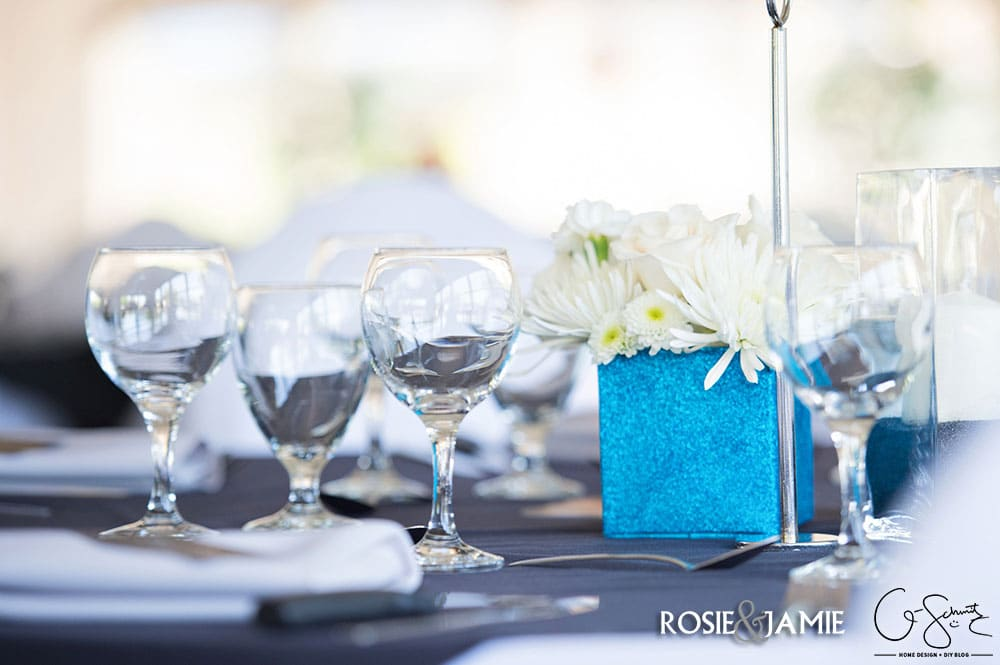 Can you believe that these DIY wedding vases were originally drink cartons? Check out the blog for the super easy and cheap process of turning juice and milk cartons into bright blue sparkly vases for wedding centerpieces and decor. And, check out the other ways I used this same DIY to add some other sparkles to our wedding day as well :)