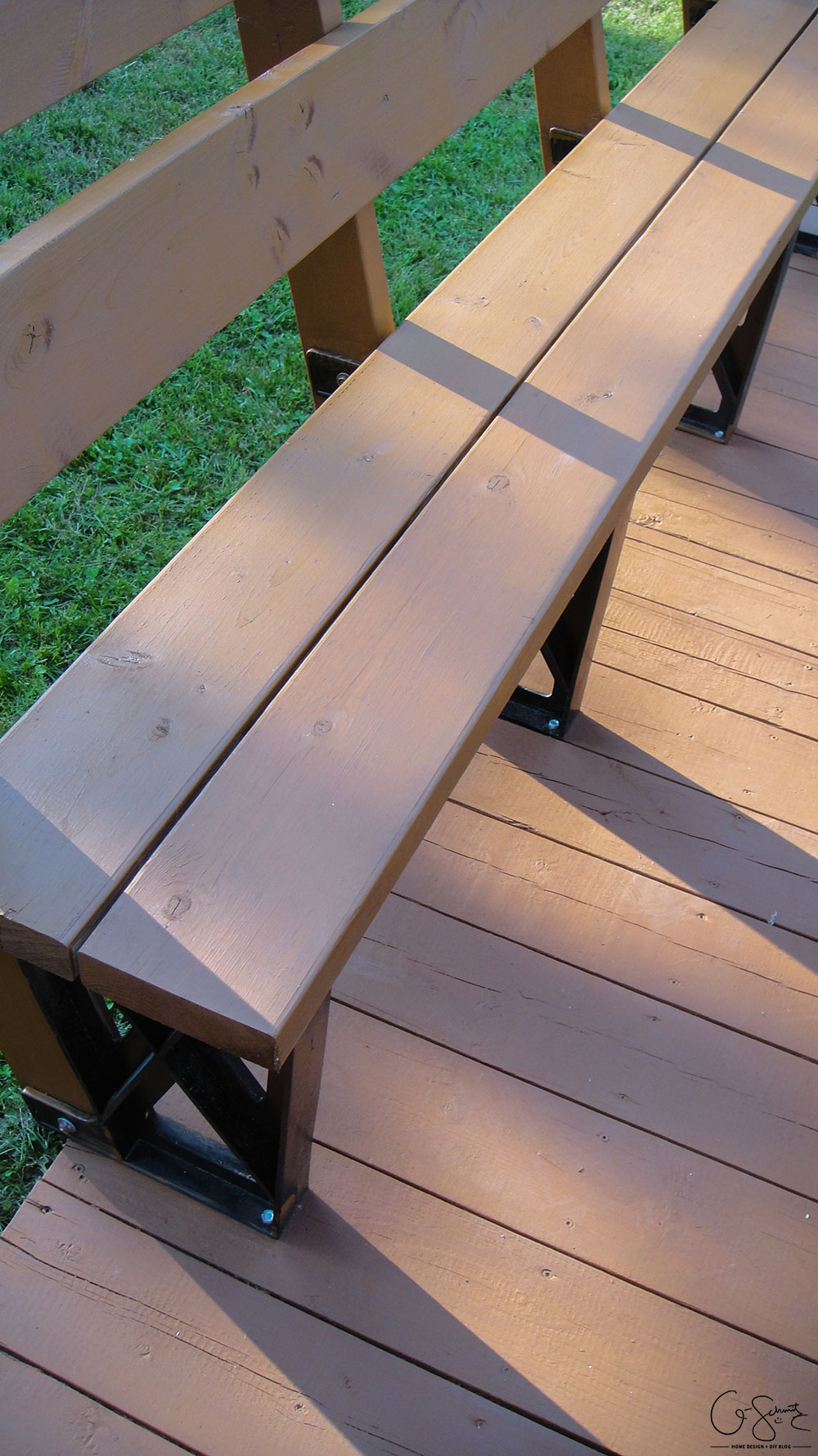 Staining the deck is an easy DIY project, but it is time consuming! Check out all the photos of the progress and read about the details on how to stain different angles. I can't wait to host some great backyard barbecue parties!