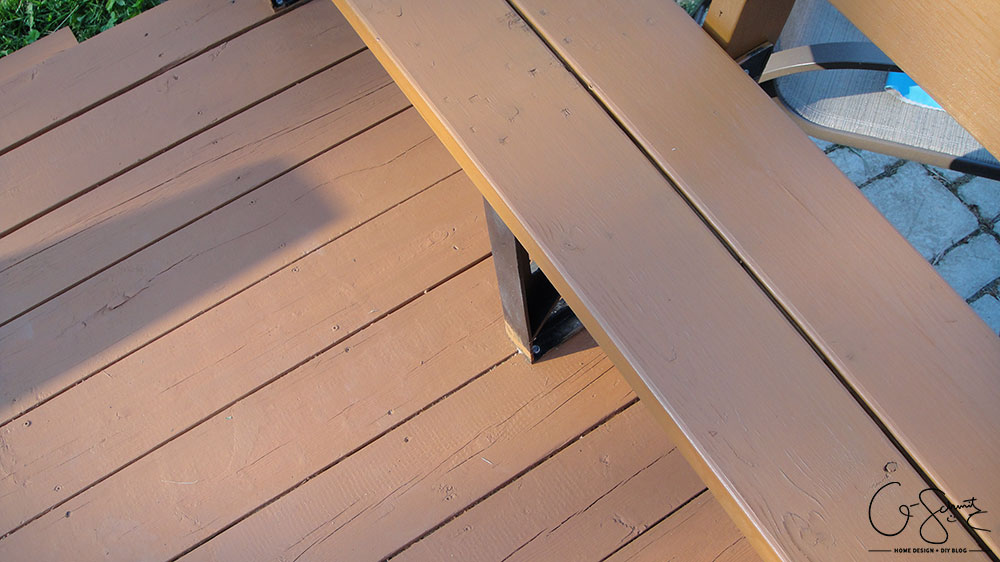 Staining the deck is an easy DIY project, but it is time consuming! Check out all the photos of the progress and read about the details on how to stain different angles. I can't wait to host some great backyard barbecue parties