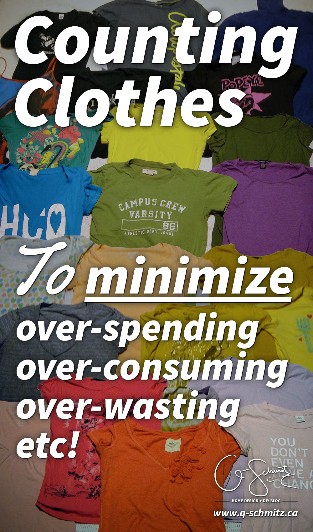 I challenge you to count all the clothing and accessories you have right now! Get perspective on the items in your home that are preventing you from being better organized.