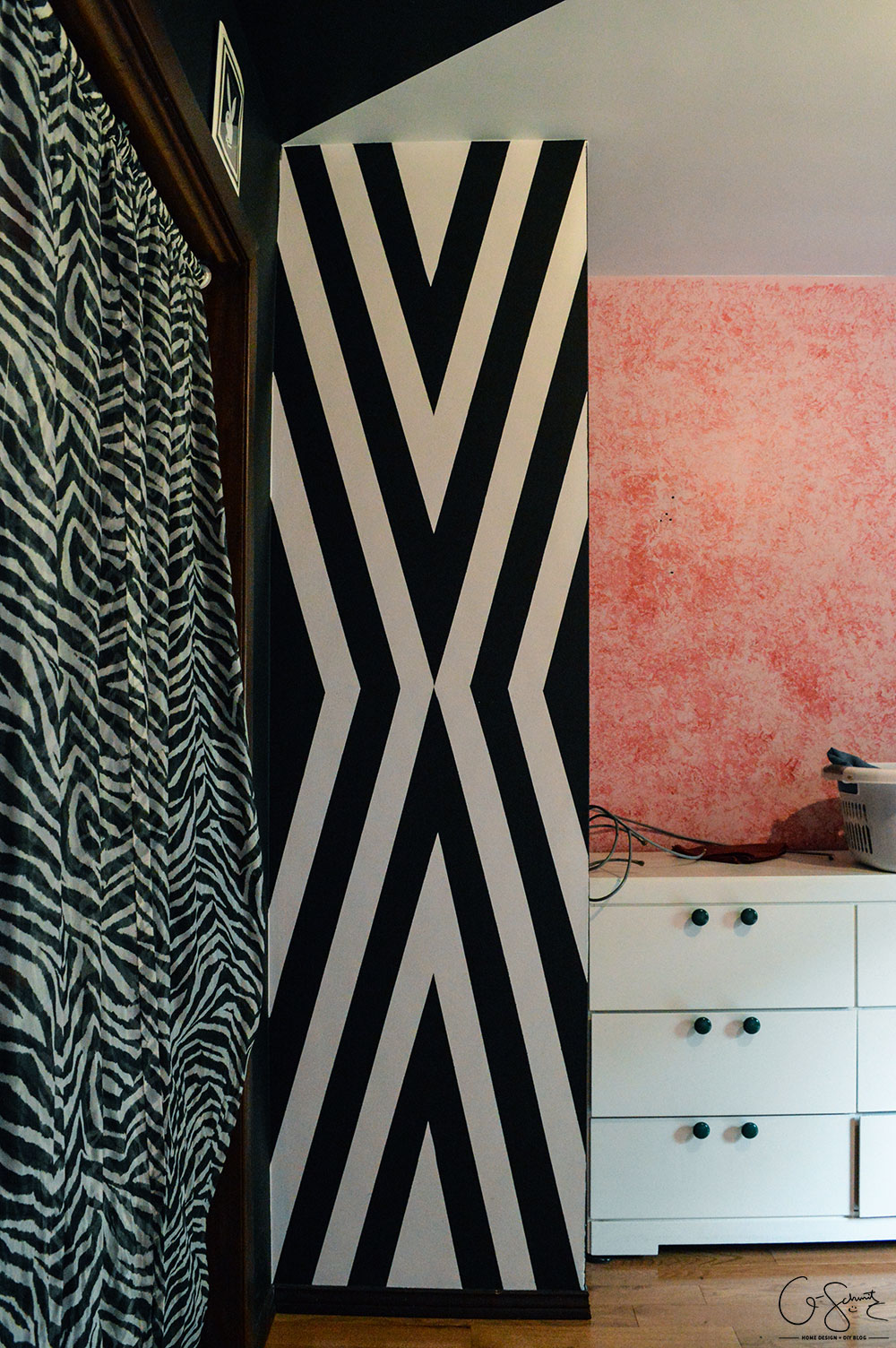 Are you ready to add some bold colour and stripes to your home décor? Check out my first major DIY project (my bold teen bedroom) – and feel free to incorporate some of this style into your girls' bedroom. Actually, bright colours and contrasts are perfect for any kids room!