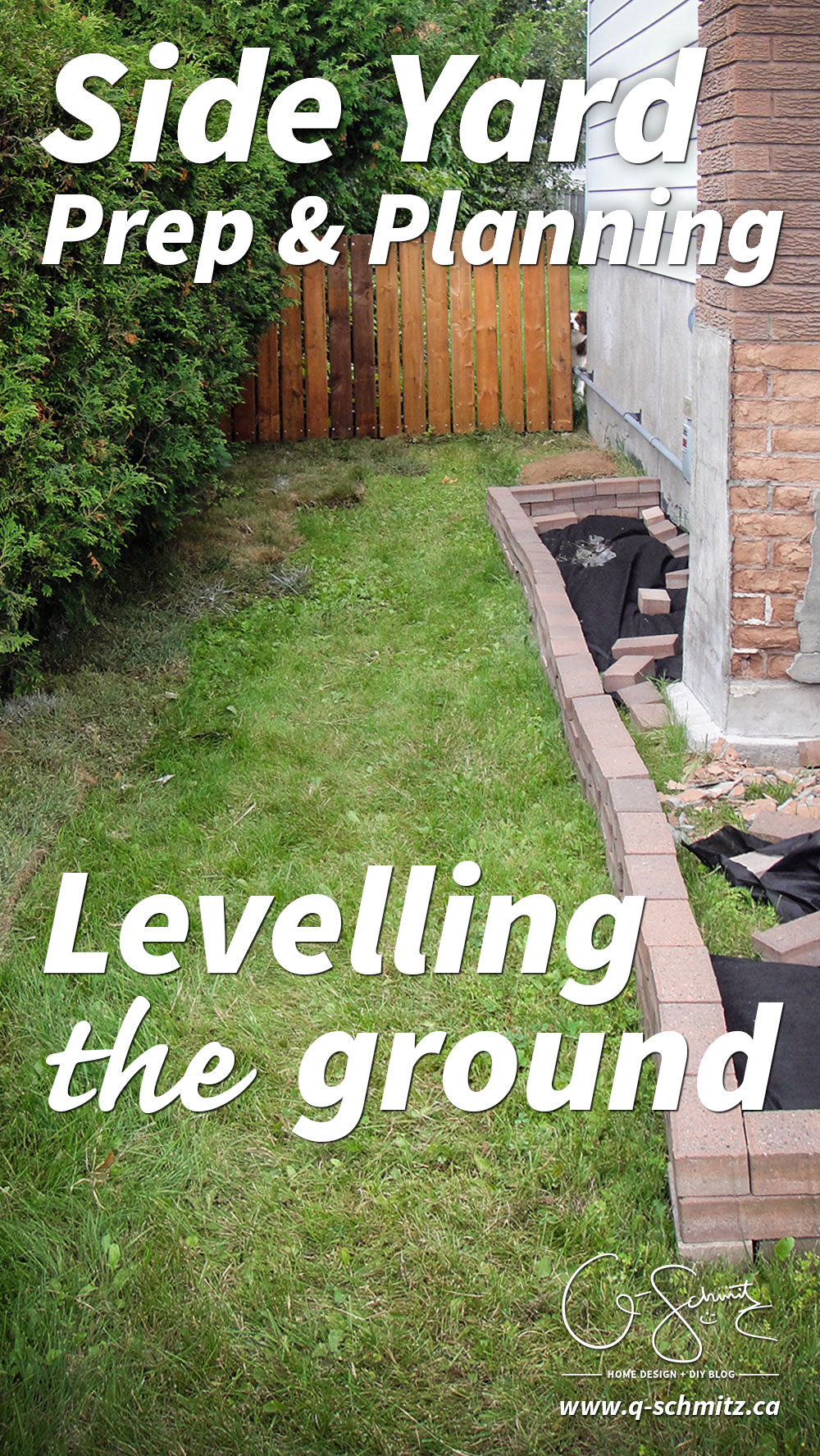 Starting the Side Yard Landscaping | Madness & Method on Front Side Yard Ideas id=85824