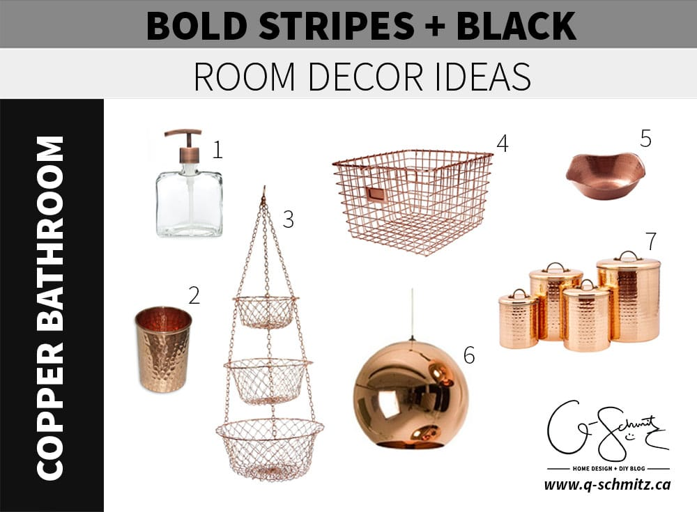 Bold stripes and black walls can be both sophisticated and fun, playful and serious – let's look at accessories and décor options in three rooms where these fun walls can be painted.