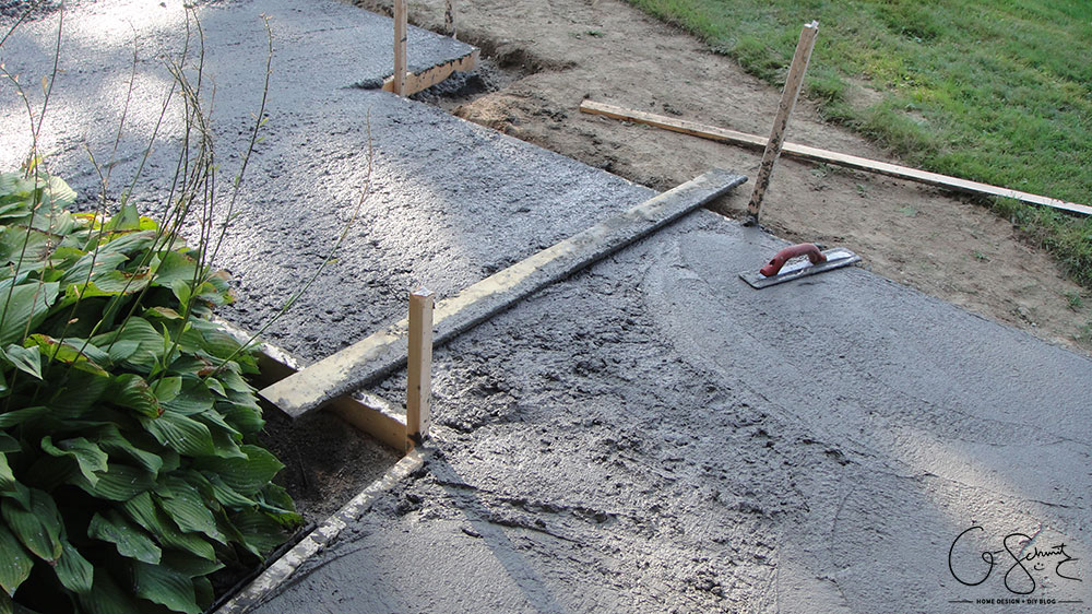 Have you worked with concrete before? Although framing and pouring concrete only takes a few