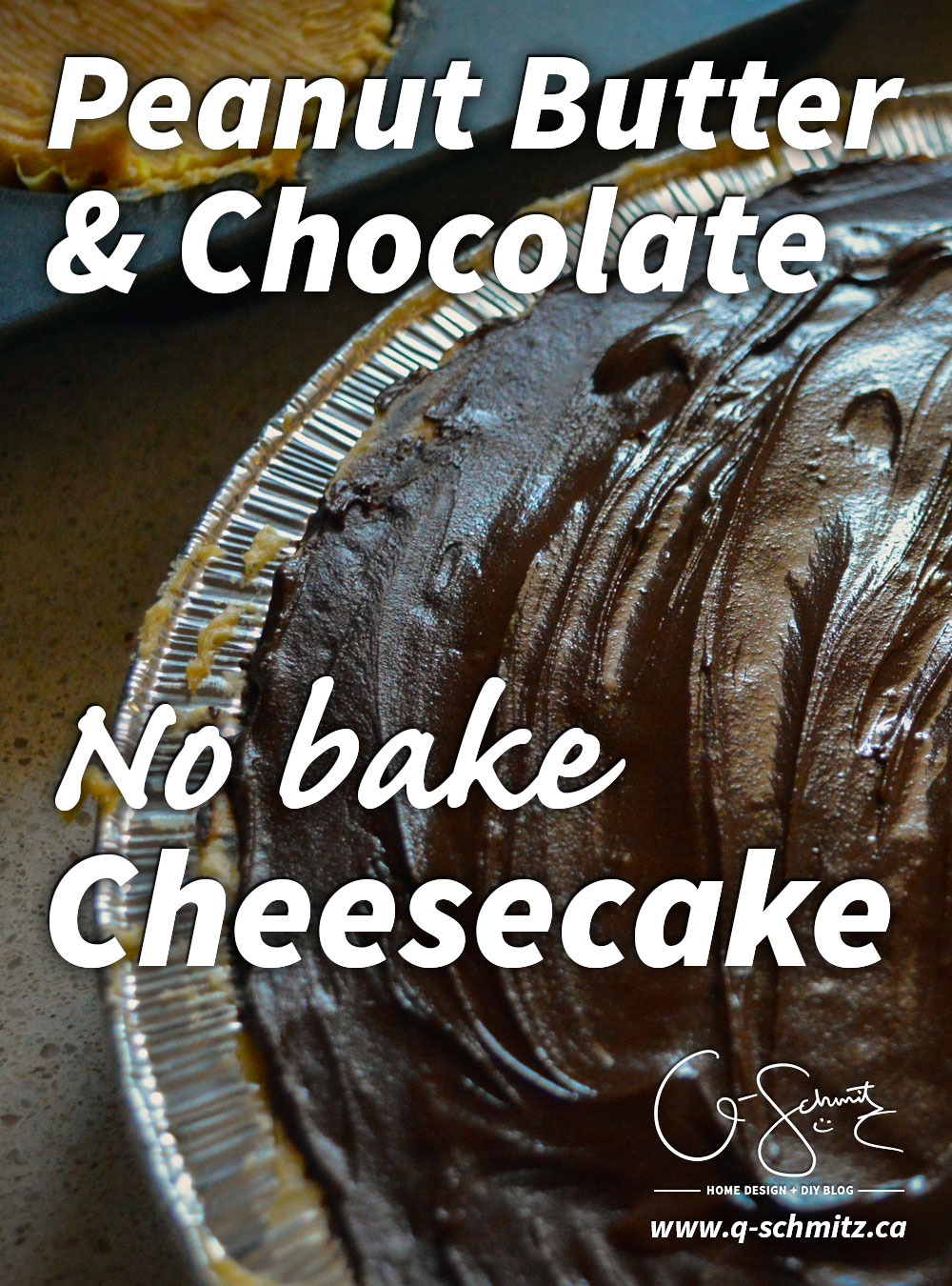 Have you ever made a no bake cheesecake before? What about a peanut butter version? Modelled after a jumbo Reese Cup, I just made this delicious peanut butter and chocolate no bake cheesecake and would love to share the details with you :)