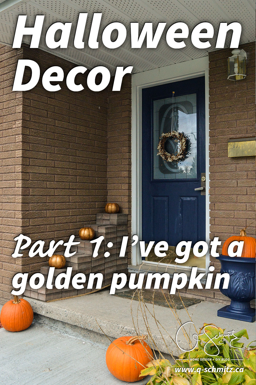 I've got a golden pumpkin! Part 1 is all about picking an outdoor Halloween décor theme and exploring pumpkin options. Part 2 will be coming soon :)