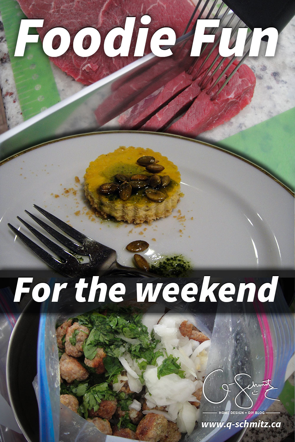 Last weekend I had some foodie fun! The Husband and I attended the Feast of Local Flavours and spent Sunday afternoon preparing freezer meals with Pampered Chef