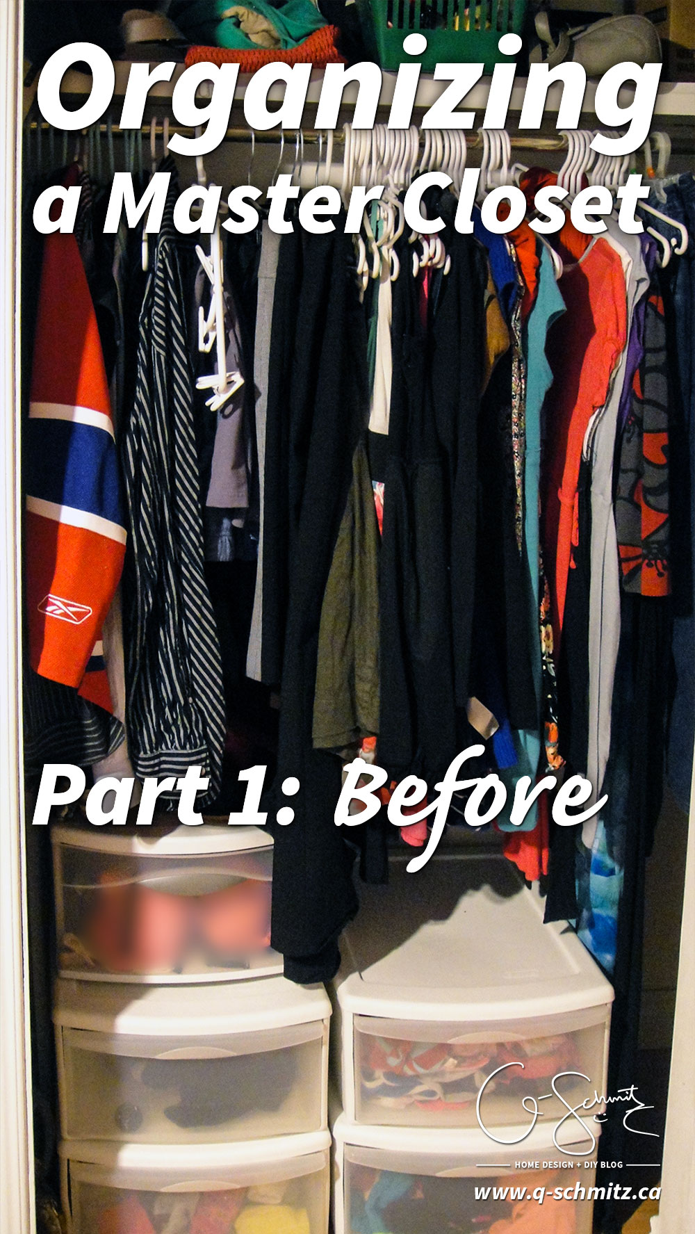 Organizing a master closet is a project that took us less than an afternoon to complete, and really changed the space. But this is just Part 1…