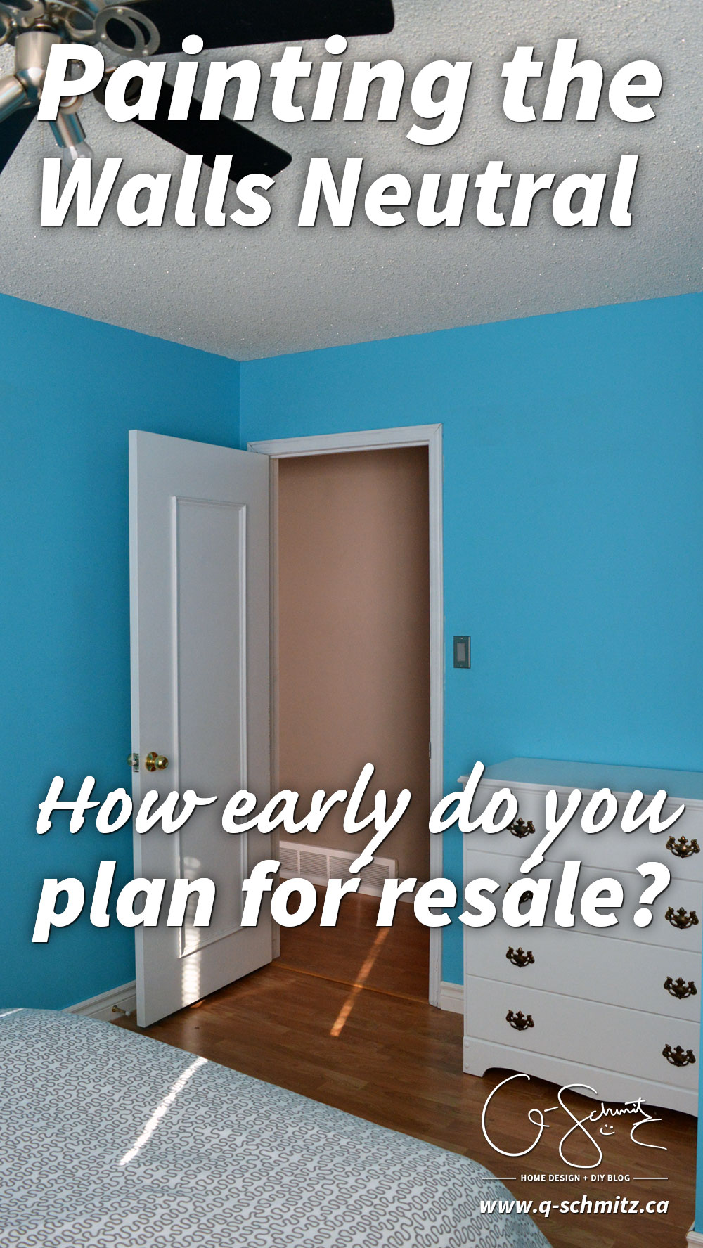 Thinking of selling your house and have some bright paint or custom design choices that might not appeal to all buyers? How early do you plan for resale?