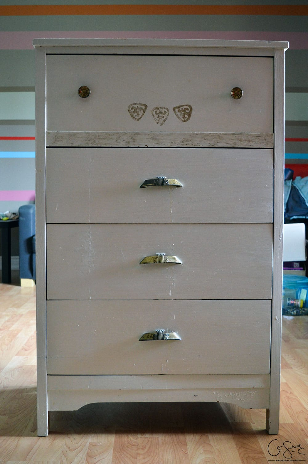 Sometimes you don't need to do a huge DIY to get the furniture look you want. See how a dresser mini-makeover can work just as well!