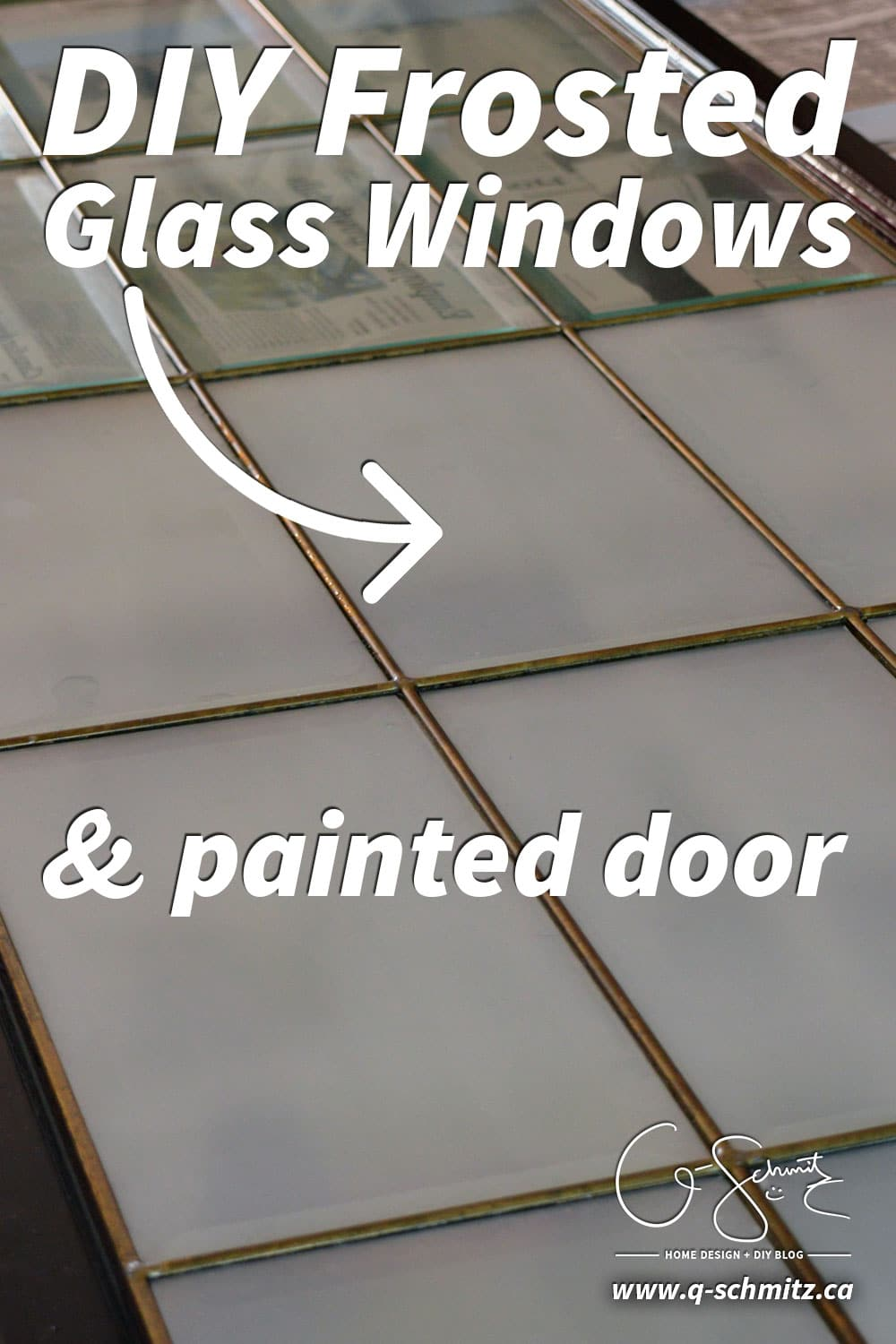 Have you ever done any kind of DIY frosted glass windows before? There are three different basic options, and I chose to use the frosted glass film – check out my reasoning (and results) here!