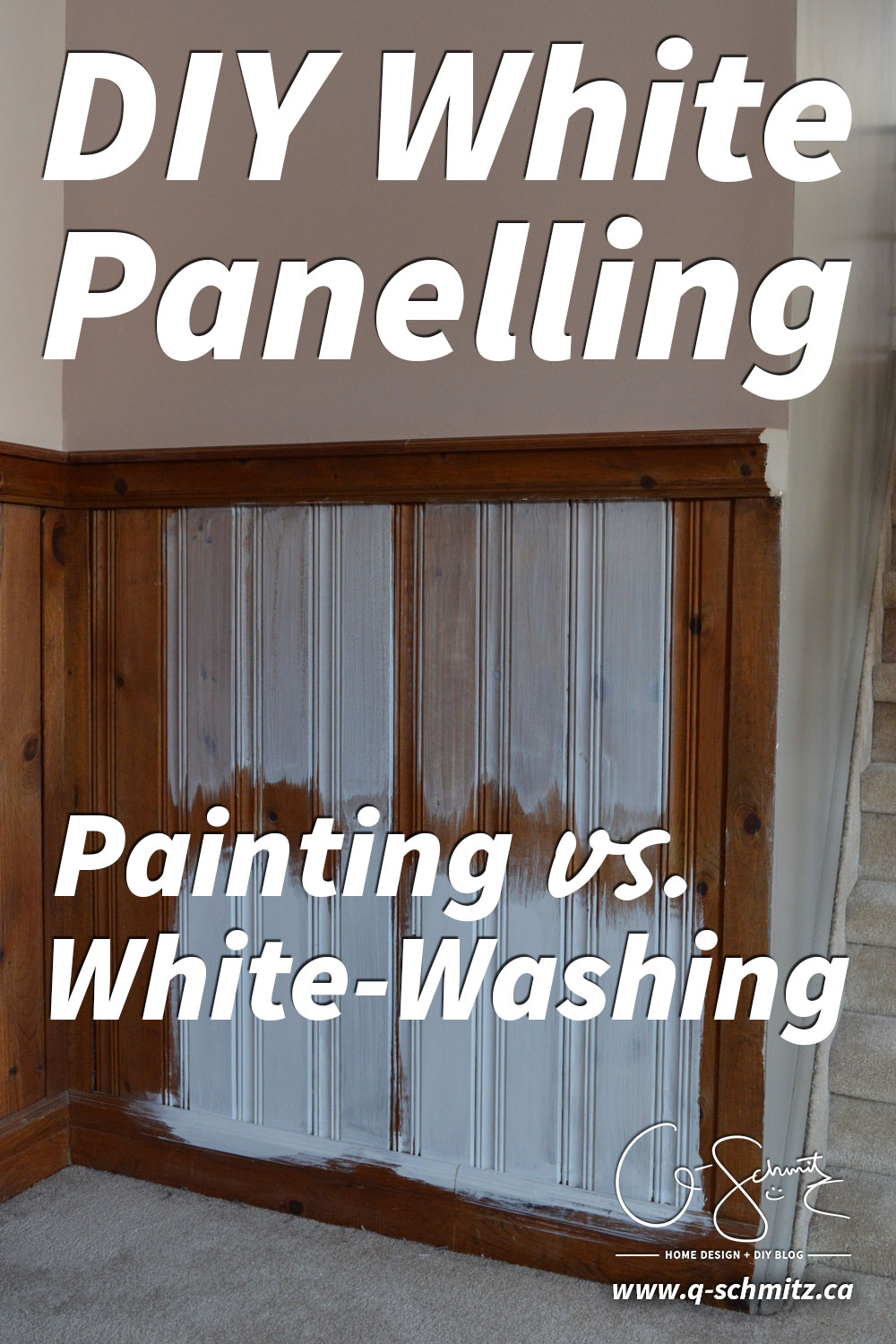Painting Vs Whitewashing Panelling And Brick Madness Method