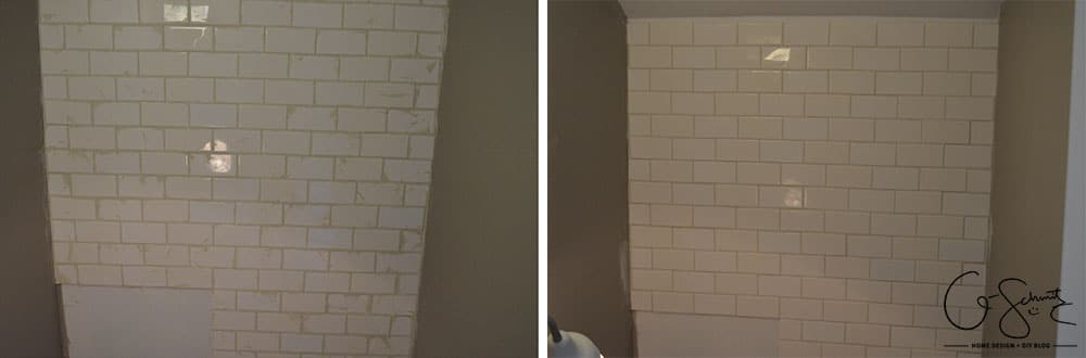 Week 4 of the One Room Challenge was spent tiling the bathroom, and I'm also sharing some of our sconce light options for the space.