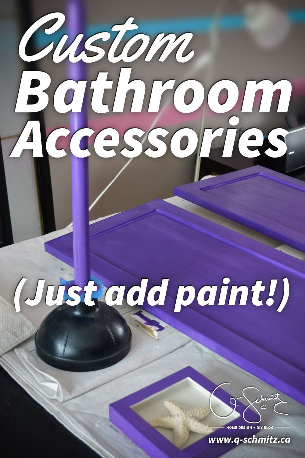 You don't have to be limited to the accessories and finishes you find in the store. This post is all about custom bathroom accessories I was able to make!