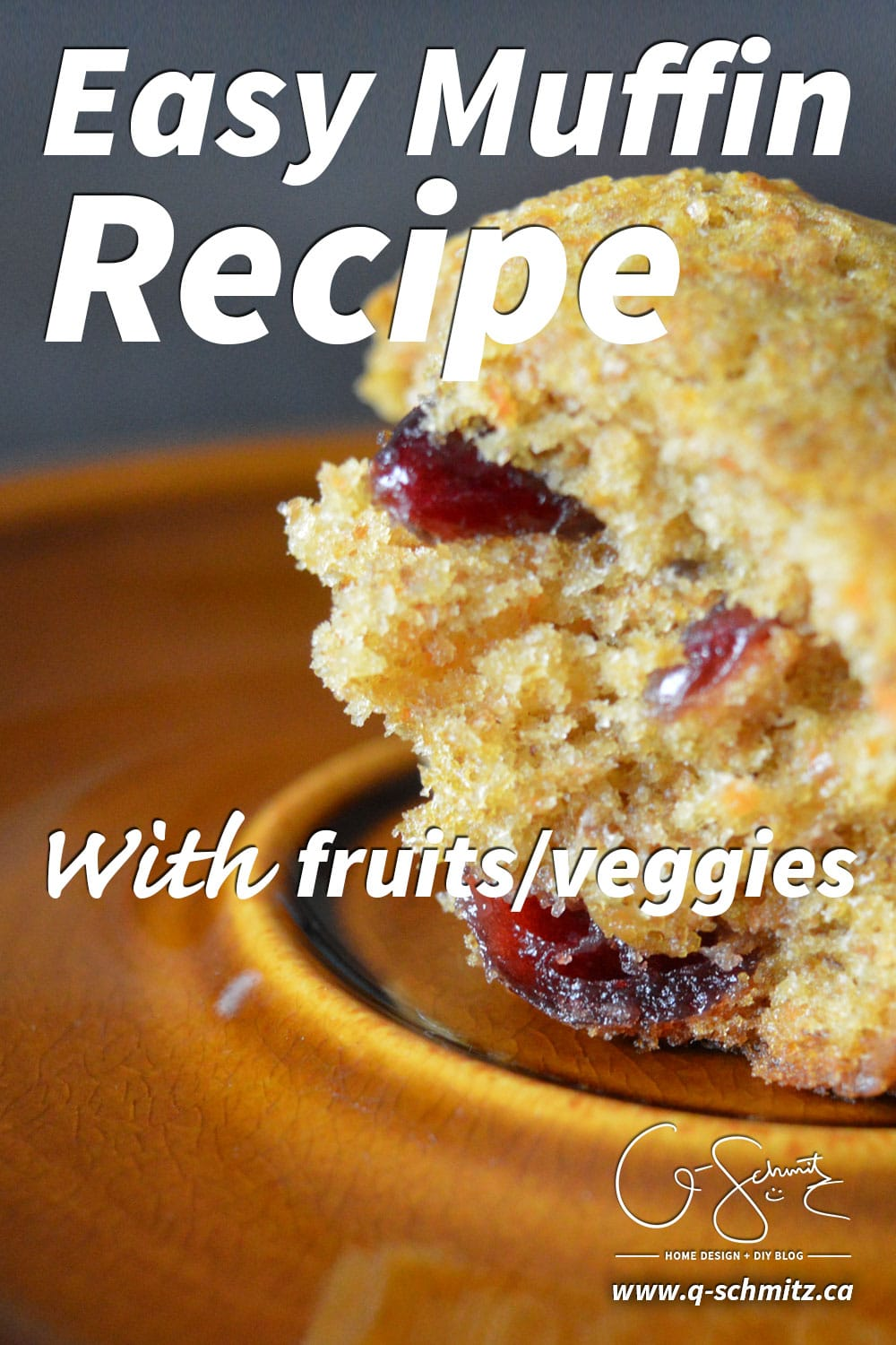 Easy Muffin Recipe With Fruits Veggies Madness Amp Method