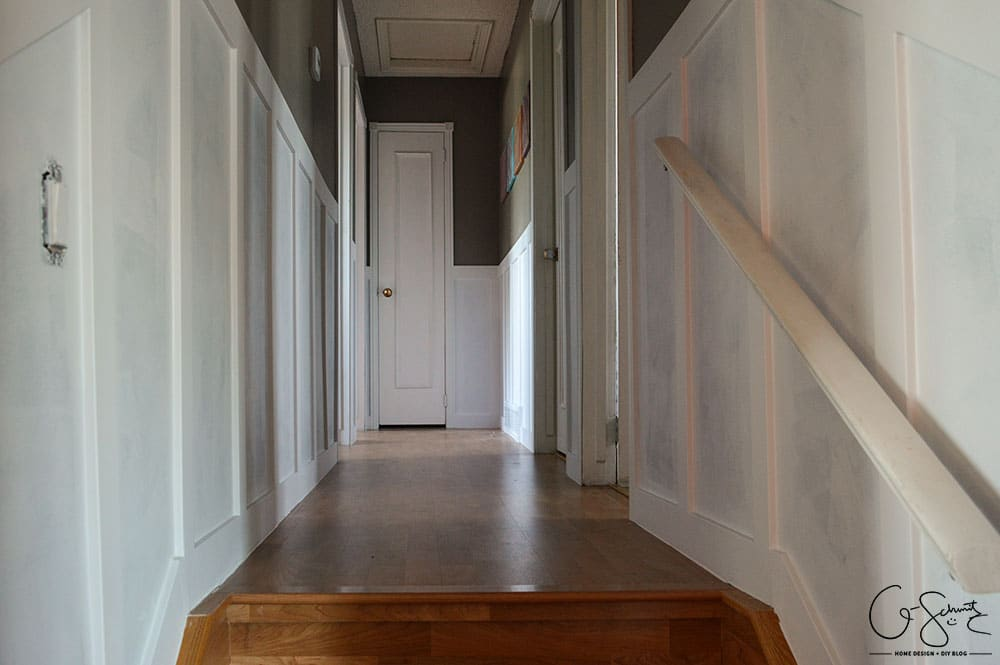 Do you have any millwork in your house? There are so many different styles, and almost no limits to what can be achieved with a few coats of paint and some pieces of trim! Here's an overview of how I was able to add board and batten style millwork to our hallway.