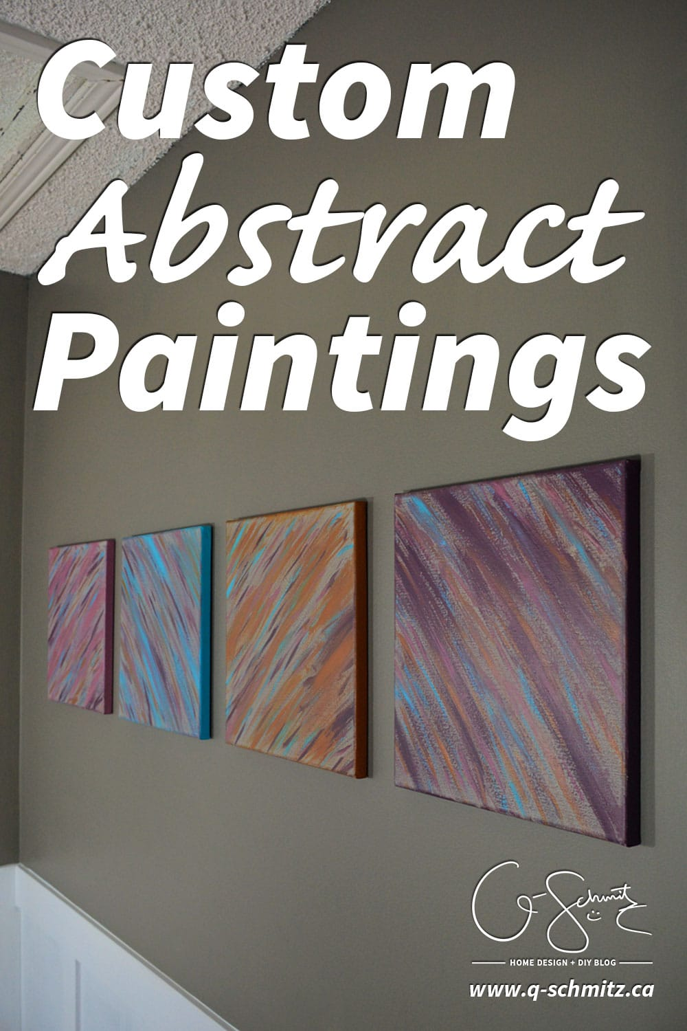 Have you ever painted your own artwork for your home? Anyone can create custom abstract paintings and you don't even have to be crafty! I'll show you how :)