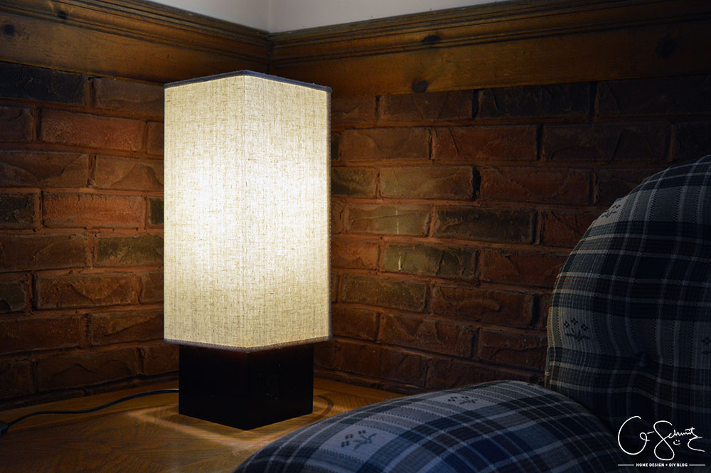 Doesn't this ridiculously tall lamp work perfectly in this corner in our basement?