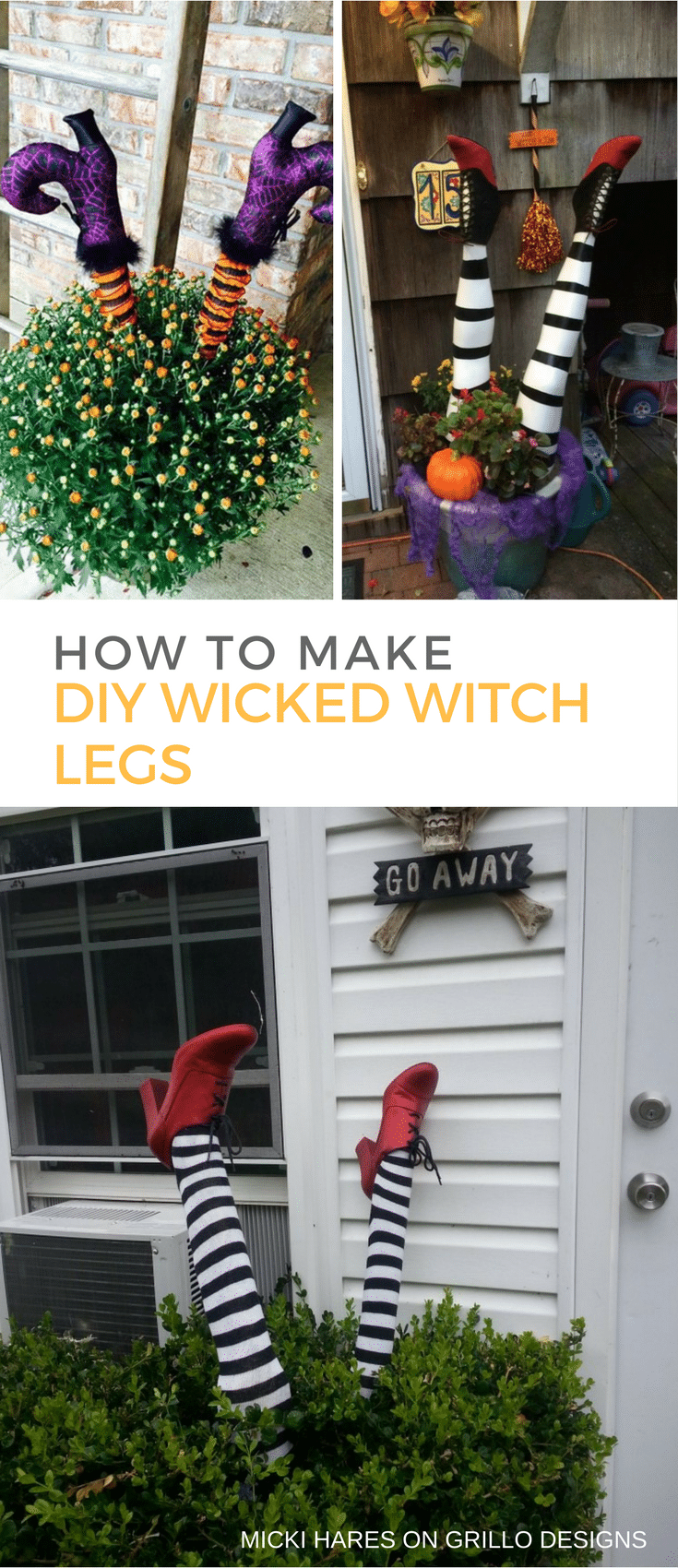 Grillo Designs Halloween Witch Legs