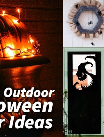 Looking for outdoor Halloween décor ideas to start planning your decorations this year? I've rounded up over 20 different ideas focusing on front doors and entries, planter specific décor, porch/patio ideas and even yard décor ideas too.