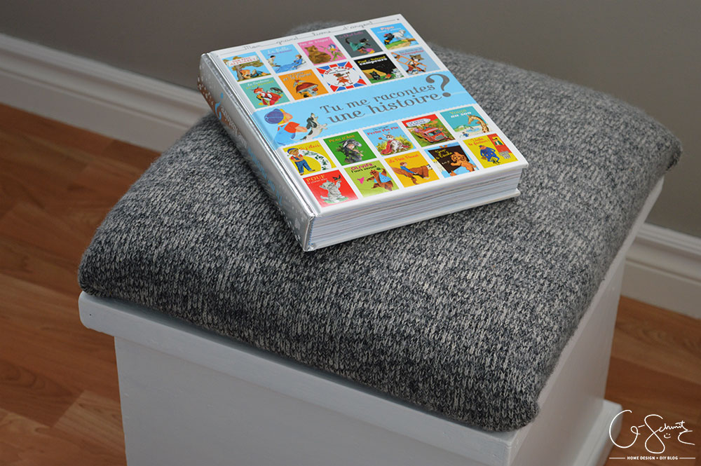ottoman from sweater