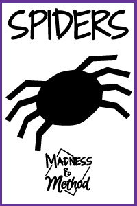image relating to Printable Spiders titled printable-spiders Insanity Tactic