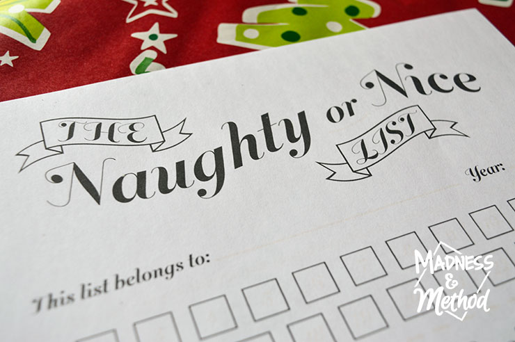 Can you believe Christmas is coming soon? This year I am starting the tradition of filling out a Naughty or Nice Christmas advent calendar. Not sure what that is? Let me explain...