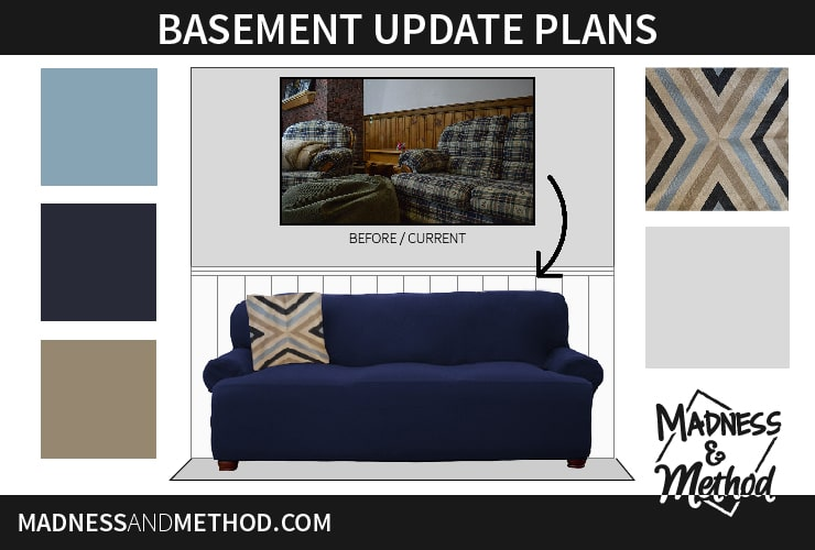 Are you planning on updating any spaces in your home this year? Last winter I showed a tour of our basement and wrote about all the things I wanted to fix. I've now figured out the design and colour scheme and will be discussing the basement update plans!