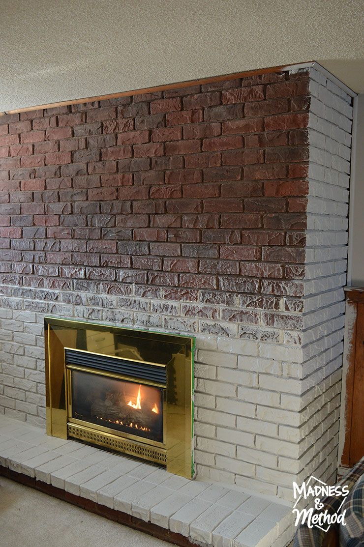 Dry Brush Bricks Fireplace Makeover 06