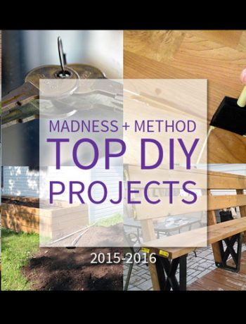 Do you have any DIY projects coming up? Great highlight of the top DIY projects and posts on the Madness and Method blog!